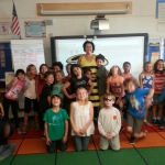 Ms. Buzz having a fun day visiting all those Birney Bees!
