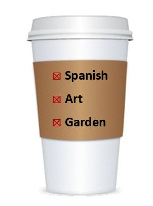 GAL coffee cup